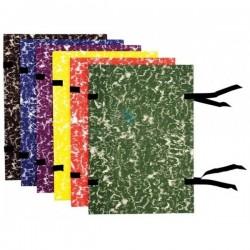 Desky s tkanicí – knihařský potah mramor