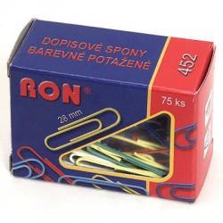 Dopisní spona RON barevná 28 mm