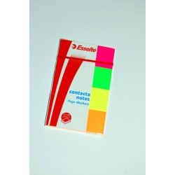 Samolepící záložky ESSELTE NEON 20 x 50 mm/4 x 40lístků